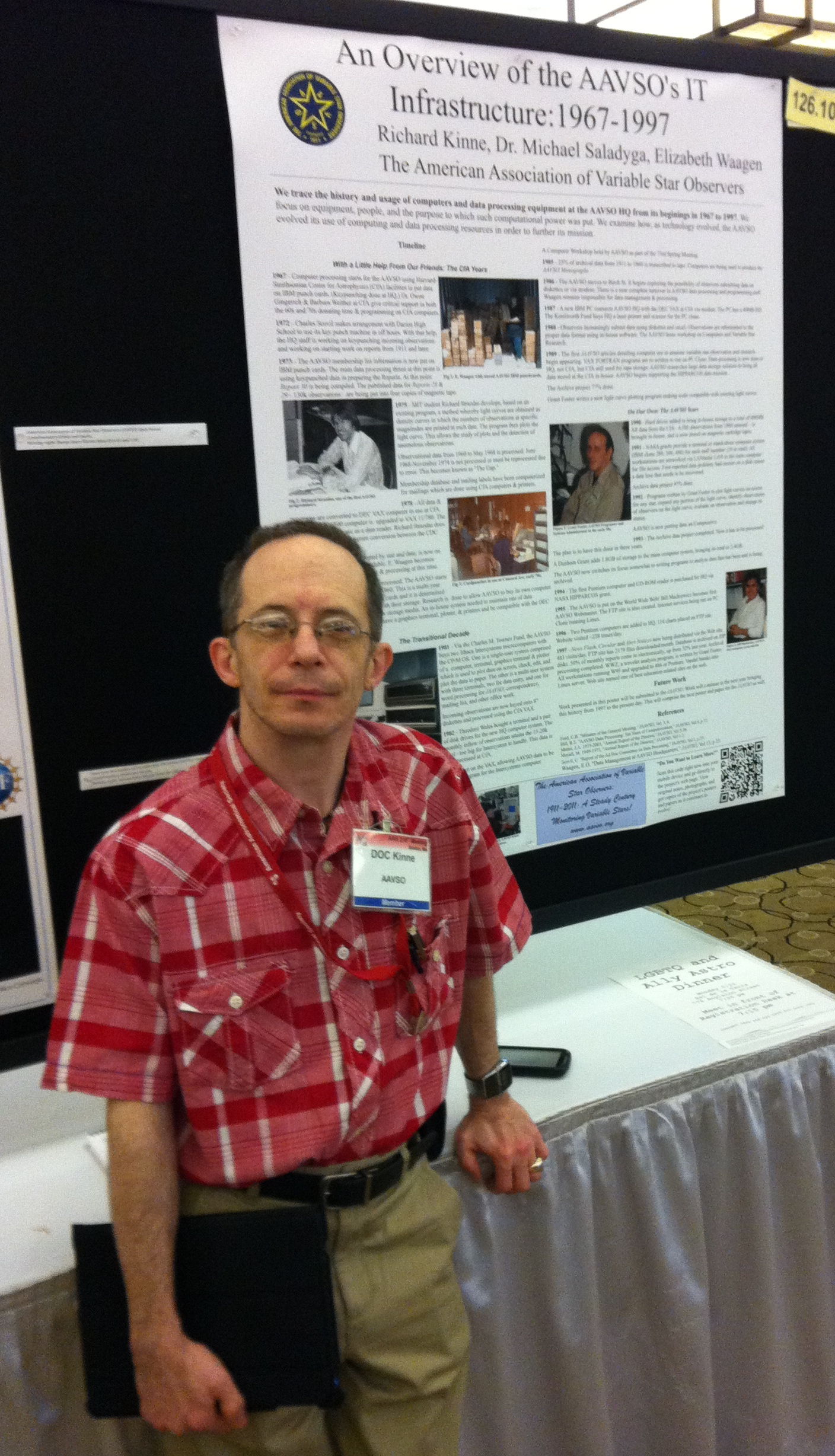 Doc at his first AAS Poster